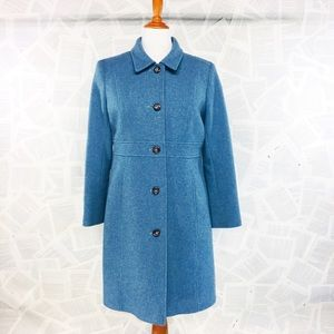 Tommy Hilfiger Turquoise Long Wool Winter Coat 16